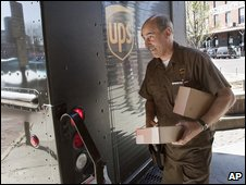 A UPS delivery man