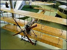 Replica of A V Roe's Triplane