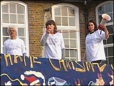 School protestors