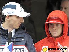 Robert Kubica (left) and Kimi Raikkonen