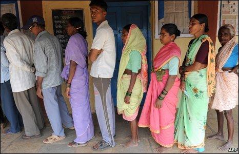 Voters in Bihar
