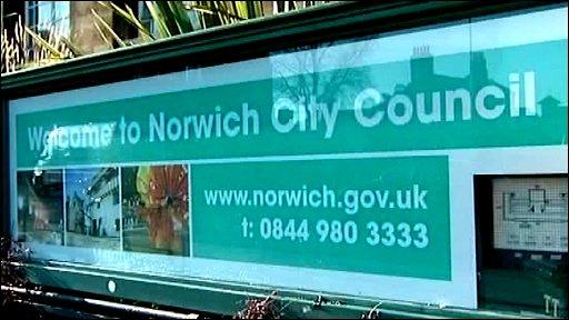 Norwich City Council sign