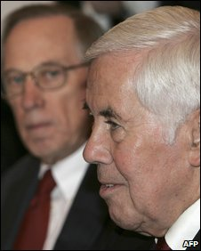 US Senators Sam Nunn and Richard Lugar