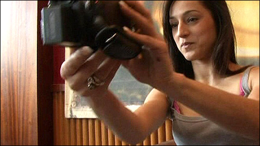 Suada using the video camera