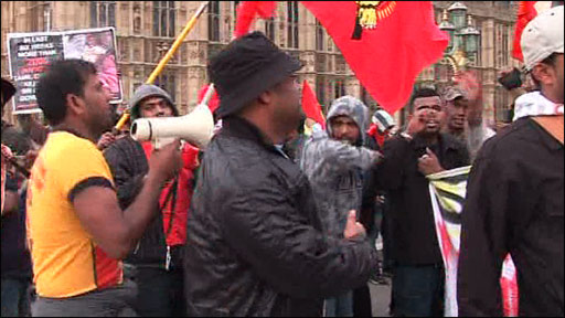 Tamil protestors