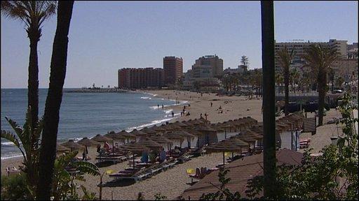 Beach scene in Spain