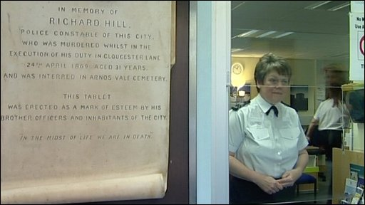 Elaine Rees in Trinity Road police station