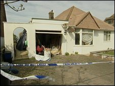 Bungalow in Rottingdean after the fire