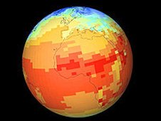 Map of earth temperature. The Climate Change Unit has built up a worldwide reputation
