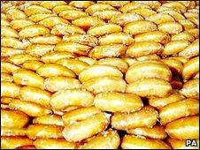 A doughnut mountain