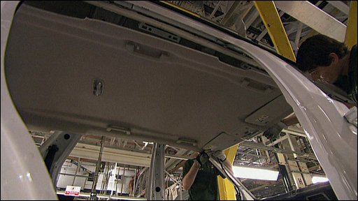 Car being made in factory