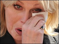 Joanna Lumley after hearing the verdict