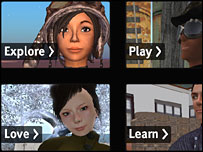 Videos on Second Life homepage