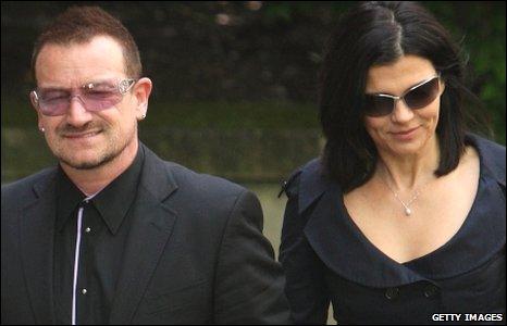 U2 singer Bono and wife Ali Hewson