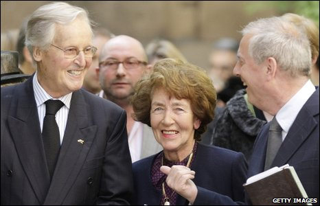 Nicholas Parsons and Giles Brandreth