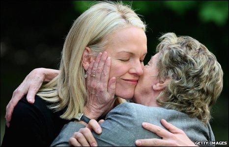 Elisabeth Murdoch and Lady Jill Freud
