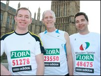Three MPs by Parliament c/o The Flora Marathon/David Wearn