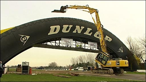 Construction work at Donington