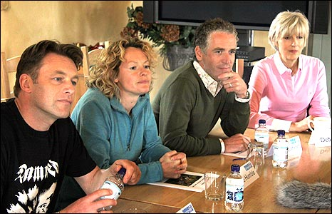 Springwatch presenters Chris Packham, Kate Humble and Gordon Buchanan (left to right)