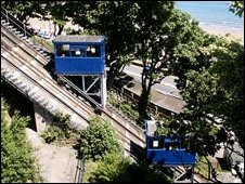 Scarborough cliff lifts