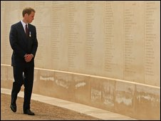 Prince William at the National Arboretum Memorial