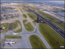 Aerial view of Heathrow, PA