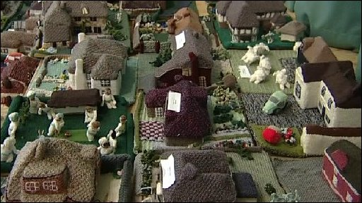 A knitted village