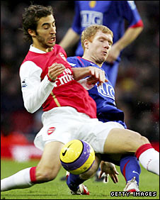 Mathieu Flamini and Paul Scholes