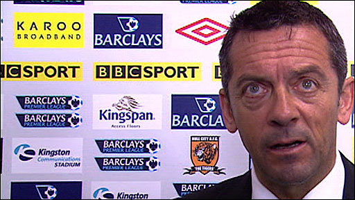 Hull City boss Phil Brown