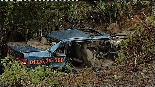 Volvo which was swept away near Zennor