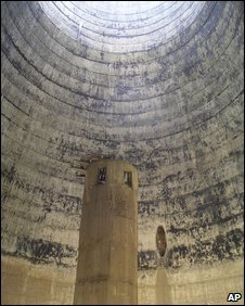 The interior of a cooling tower at Yongbyon (image from February 2008)