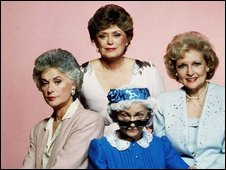 Bea Arthur, Rue McClanahan, Betty White and Estelle Getty, cast members of the Golden Girls