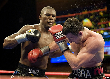 Jermain Taylor (left) and Carl Froch