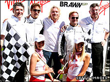Richard Branson with Brawn GP
