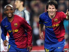 Samuel Eto'o and Lionel Messi