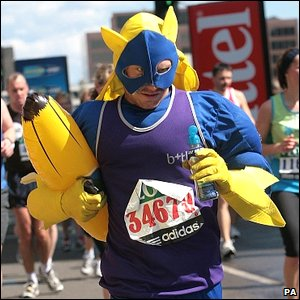Competitor in banana suit