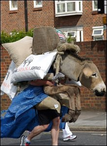 Competitor dressed as donkey