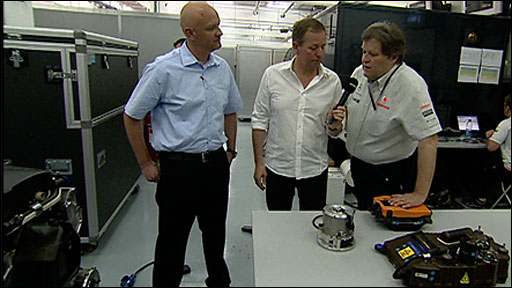 Martin Brundle is joined by Norbert Haug and Michael Wilson from McLaren