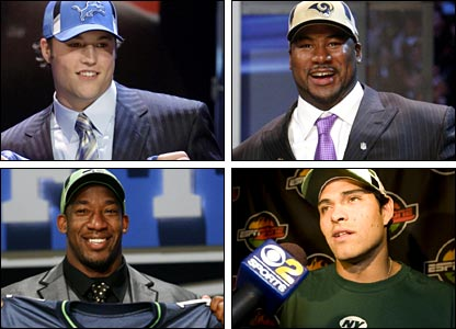 Clockwise from top left: Stafford, Smith, Sanchez and Curry