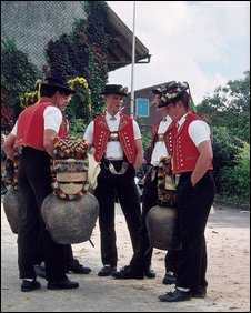 appenzeller men in traditional dress