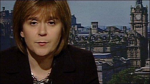 Scottish Health Secretary Nicola Sturgeon