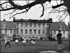 Break on South Lawn, Gordonstoun, in 1955