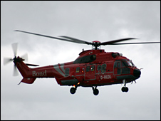 The Super Puma before it crashed [Pic: Gareth Falls]