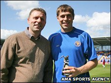 Grant Holt (right) and Steve Cross