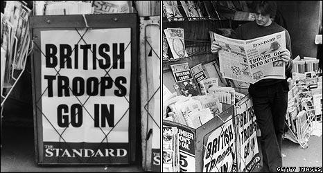 Billboards during Falklands war