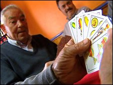 Card-players in Ontinena