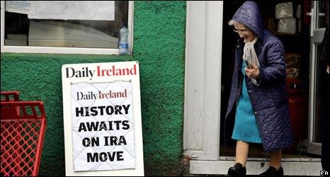 Billboard from Northern Ireland peace process