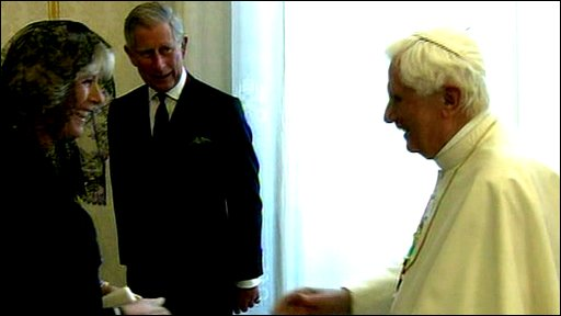 Camilla, Charles and the Pope