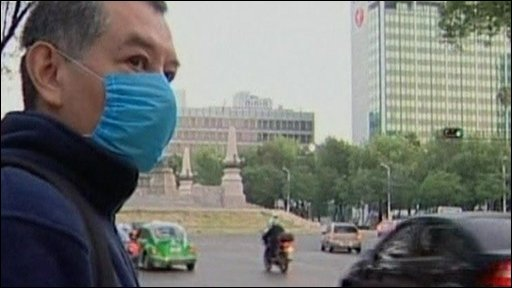 Man wearing mask in Mexico