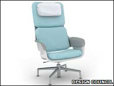 New design for patient chair